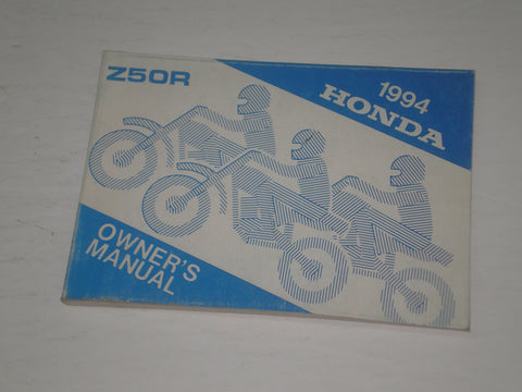 HONDA Z50R R 1994 Owner's Manual  00X32-GW8-6500  32GW8650  #A172