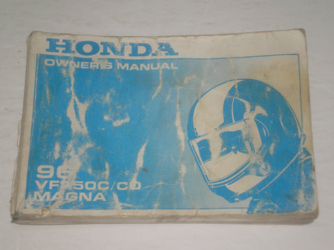 HONDA VF750C T  VF750CD T  Magna  1996  Owner's Manual  00X31-MZ5-6200  31MZ5620  #A181