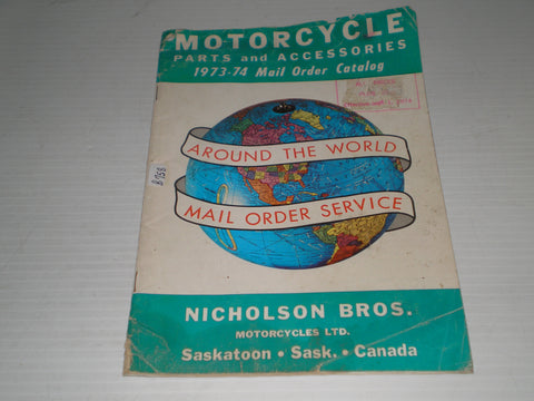 Nicholson Bros. Motorcycles Ltd  1973-1974  Parts & Accessories Catalogue  #E157