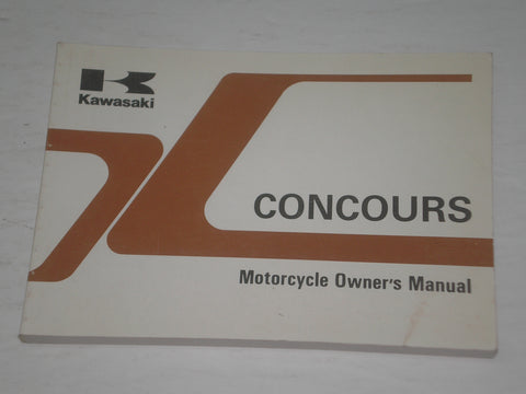 KAWASAKI ZG1000 A12  Concours  1997  Owner's Manual  99920-1818-01  #A180