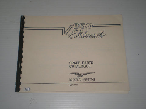 MOTO GUZZI 850 Eldorado & California Police 1972  Parts Catalogue  #E107