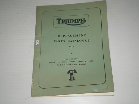 TRIUMPH T90 T100 1968  Illustrated Parts Catalogue No. 9  SPC.2  #E129