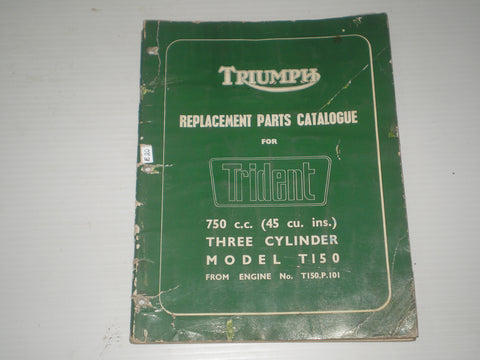 TRIUMPH Trident  T150 1969  Parts Catalogue  SPC.4  #E20