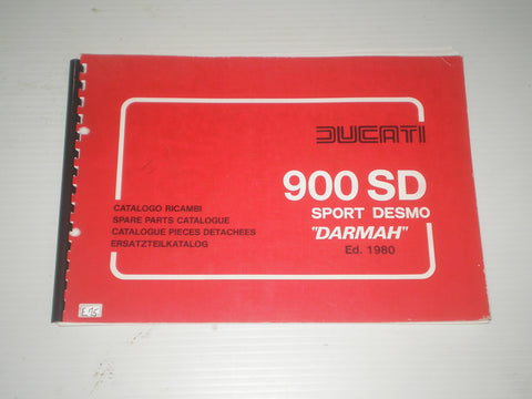 DUCATI 900 SD Sport Desmo Darmah  1980 Parts Catalogue  #E75