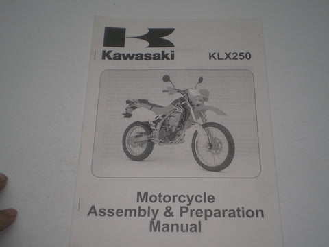 KAWASAKI KLX250 / KLX250 H6F  2006  Assembly & Preparation Manual  99931-1458-01  #1868