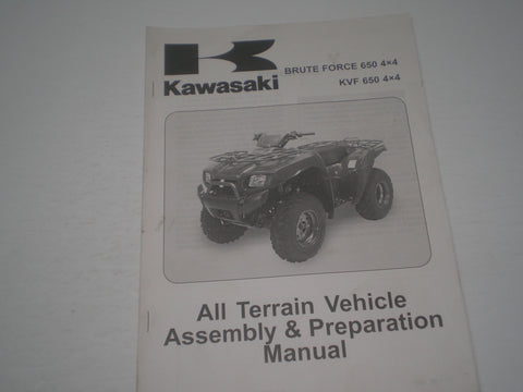 KAWASAKI Brute Force 650 4x4 / KVF650 4x4 / KVF650 D1/E1  2005  Assembly & Preparation Manual  99931-1450-01  #1866