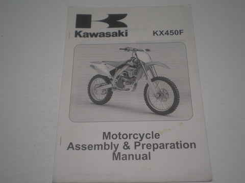 KAWASAKI KX450F / KX450 D6F  2006  Assembly & Preparation Manual  99931-1456-01  #1873
