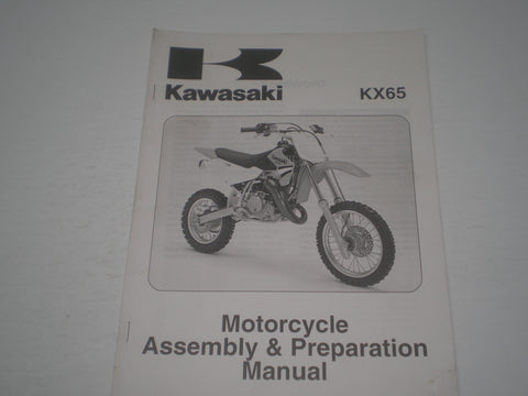 KAWASAKI KX65 A5 A6  2004-2005 Assembly & Preparation Manual  99931-1453-01  #1872