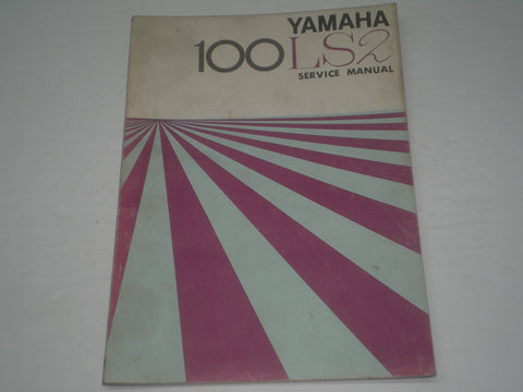 YAMAHA 100 LS2  1972   Factory Service Manual  #1525