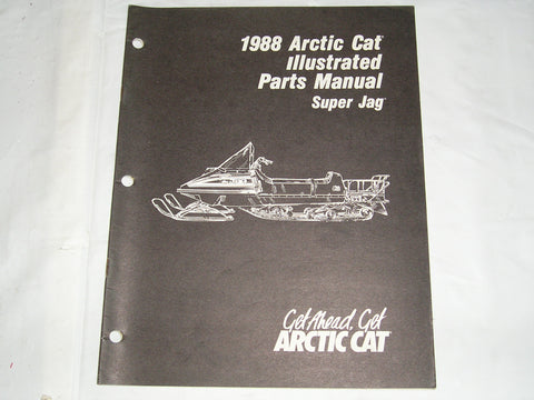 ARCTIC CAT Super Jag  1988  Illustrated Parts Catalogue  2254-449  #S16