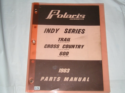 POLARIS Indy Series  Trail / Cross Country / 600  1983  Parts Catalogue  9910812  #S170