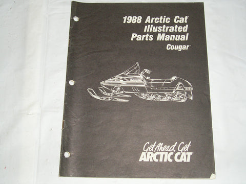 ARCTIC CAT Cougar 1988  Illustrated Parts Catalogue  2254-448  #S17