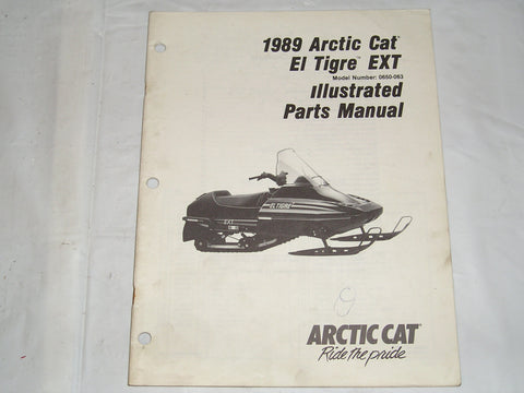 ARCTIC CAT El Tigre EXT  1989  Illustrated Parts Catalogue  2254-494  #S22