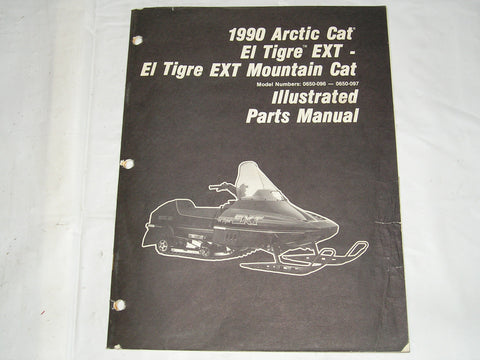 ARCTIC CAT El Tigre EXT & El Tigre EXT Mountain Cat  1990  Illustrated Parts Catalogue  2254-568  #S32