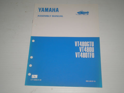 YAMAHA VT480GT U  VT480 U  VT480TF U  1994  Assembly Manual  8BK-28107-10  LIT-12668-01-50  #S46