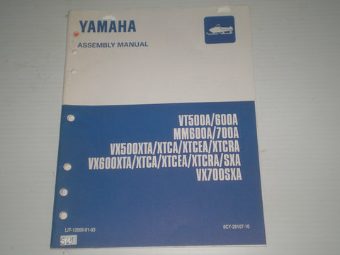 YAMAHA VT500 VT600 MM600 MM700 VX500 VX600 VX700 1997 Assembly Manual  8CY-28107-10  LIT-12668-01-83  #S67