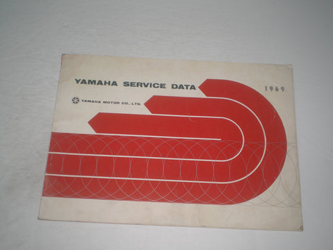 YAMAHA 1969 Edition  Motorcycle Models 1968-1969 Service Data  #1789