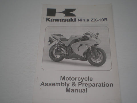 KAWASAKI ZX-10R / ZX100D6F  2006  Assembly & Preparation Manual  99931-1460-01  #1864