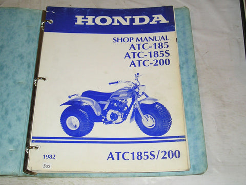 HONDA  ATC185  ATC200 1982  Shop / Service Manual  #533