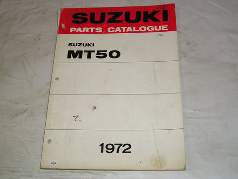 SUZUKI MT50  R J  1972  Factory Parts Catalogue  #242