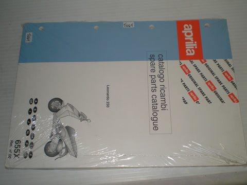 APRILIA Leonardo 250  Factory Spare Parts Catalogue 655X Rel. No. 00  88655X0  #E94