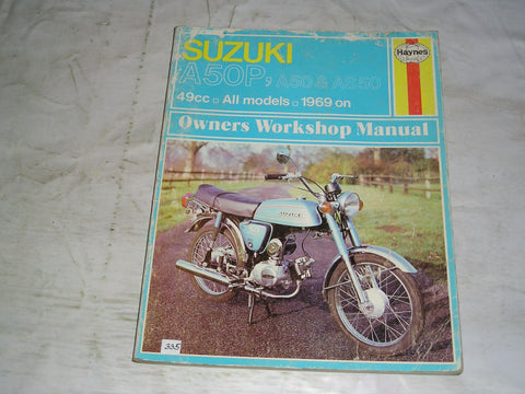 suzuki a50 a50p as50 1969 on haynes owners workshop manual #335