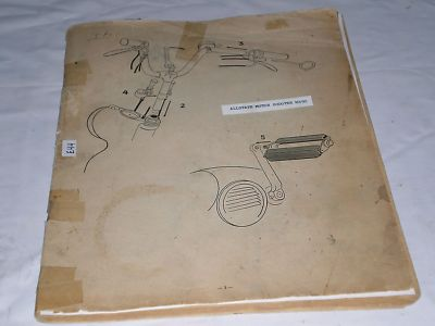 ALLSTATE Motor Scooter MS50  Operating / Maintenance & Parts Catalogue  #E105