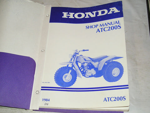 HONDA ATC200 S 1984 Shop / Service Manual  HM-1089  #534