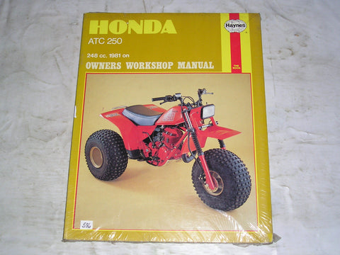 HONDA ATC250 R  1981 on  Haynes Owners Workshop / Service Manual 798  #586