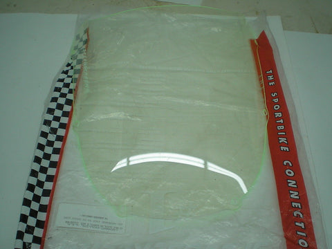 KAWASAKI ZX6 R 1998-1999 Green Edge Lockhart Phillips Speed Screen Windscreen 101-WS9030GE
