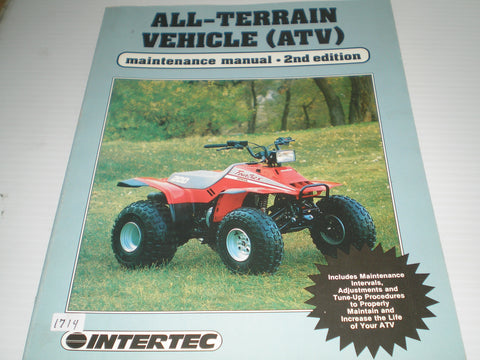 Interact ATV All Terrain Vehicle 1988 Maintenance Manual #1714