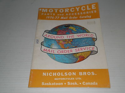Nicholson Bros. Motorcycle Ltd 1976-1977  Parts & Accessories Catalogue  #E158