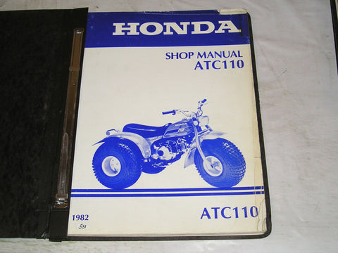 HONDA ATC110 1982  Factory Service Shop Manual  #531