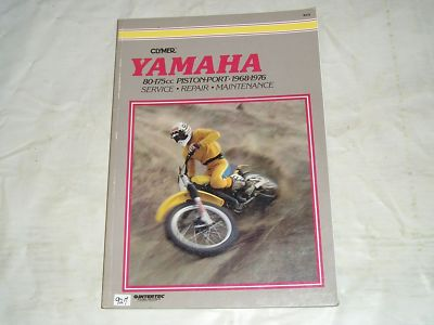 YAMAHA 80-175cc Piston Port 1968-1977 Clymer Service Manual M410  #927