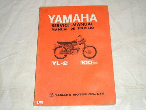 YAMAHA 100  YL2  YL-2  1967  Factory Service Manual  #920