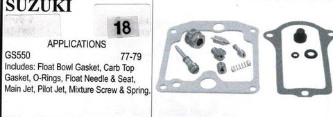 SUZUIKI GS550 1977-1979 Carburetor Repair Kit  # 18