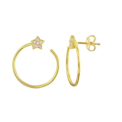 Star Wrap Around Stud Earrings