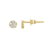 Small 3mm Disc Full Pavé Stud Earrings