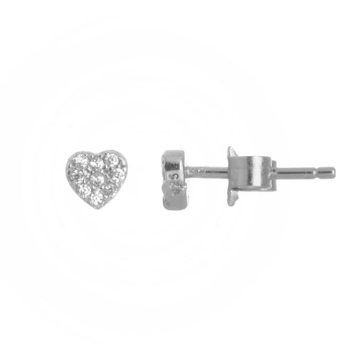 Itty Bitty Heart Stud Earrings