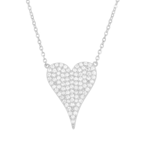 Pave Melting Heart Necklace