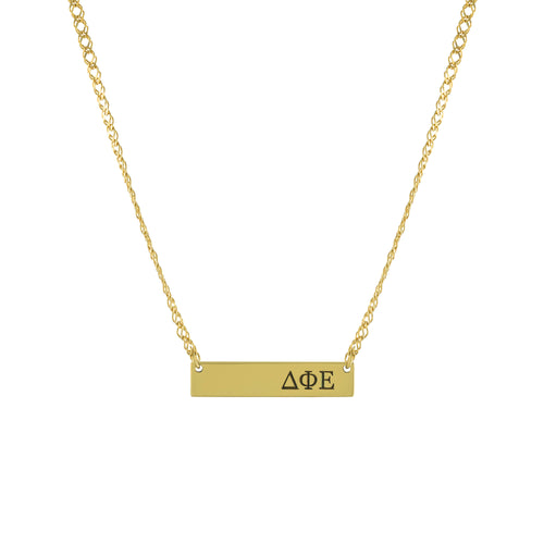 Sorority Greek Letter Bar Necklace