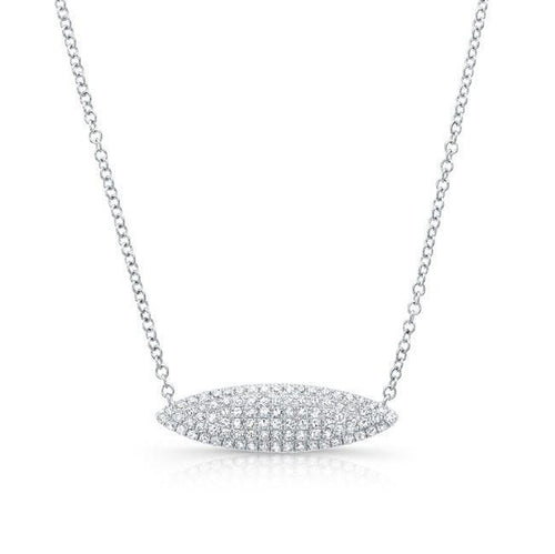 "14k Gold and Diamond ""Alana"" Marquise Pavé Necklace"