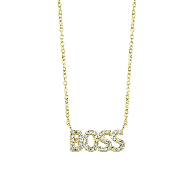 Sparkle Pavé Boss Necklace