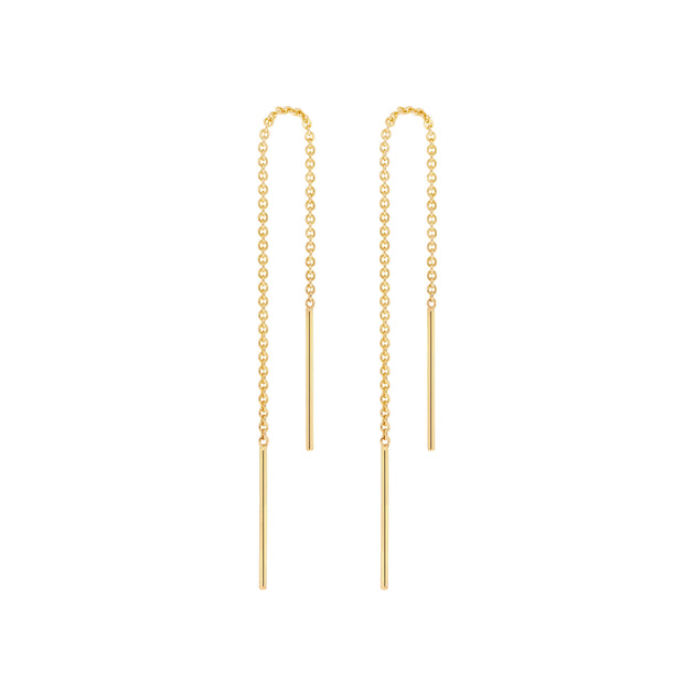 14k Solid Gold Chain Threaders
