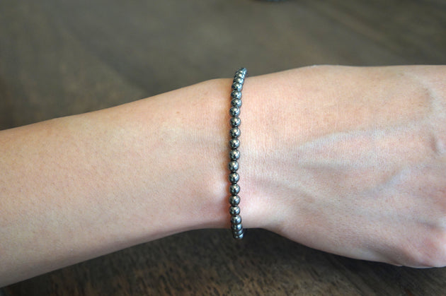 Black Rhodium Stretch Bracelet