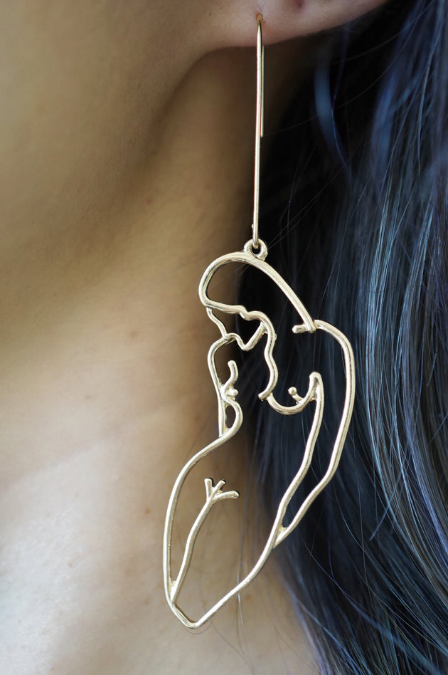 Abstract Full Body Earrings