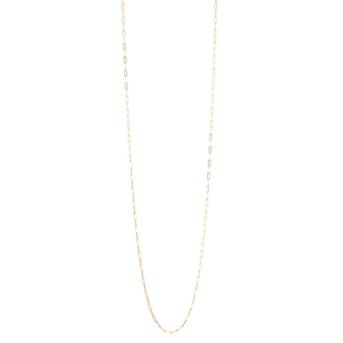 "40"" Micro Rectangle Chain Necklace"