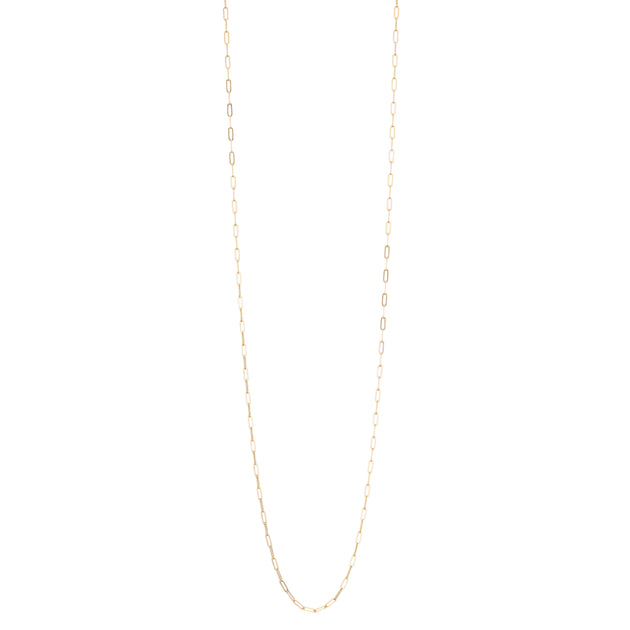 Micro Rectangle Chain Necklace