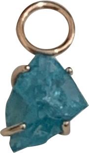 One-Off Rough Apatite Charm