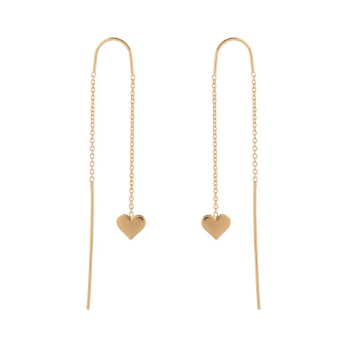 Heart Threader Earrings